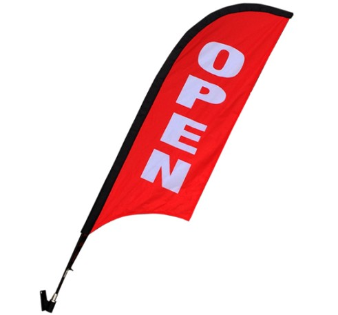 Promotional Wall Feather Flag Popular Shop Wall Flag