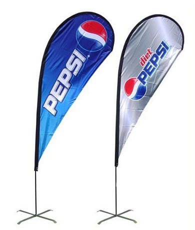 Digital Printing Printed Polyester Beach Banner Flags
