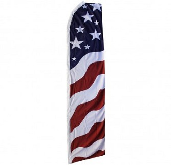 Cheap Promotional Polyester American Knife Flag Wholesale