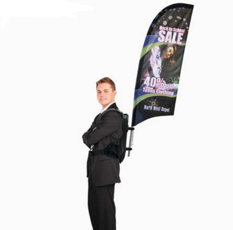 Polyester Fabric Backpack Flying Banner for Sale
